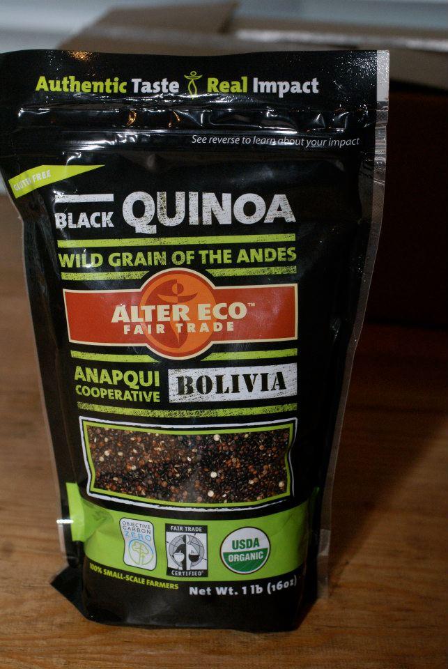 black quinoa bag