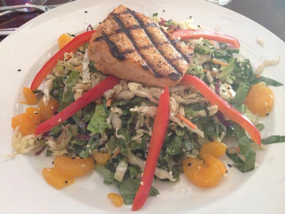 salmon asian orange salad