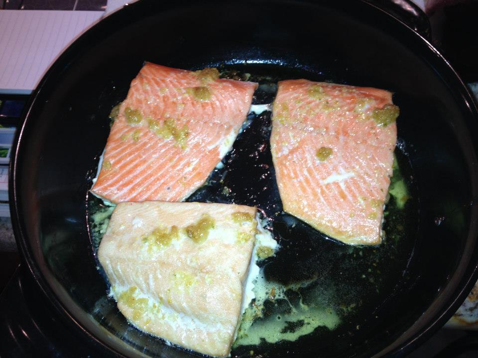26 cooking salmon