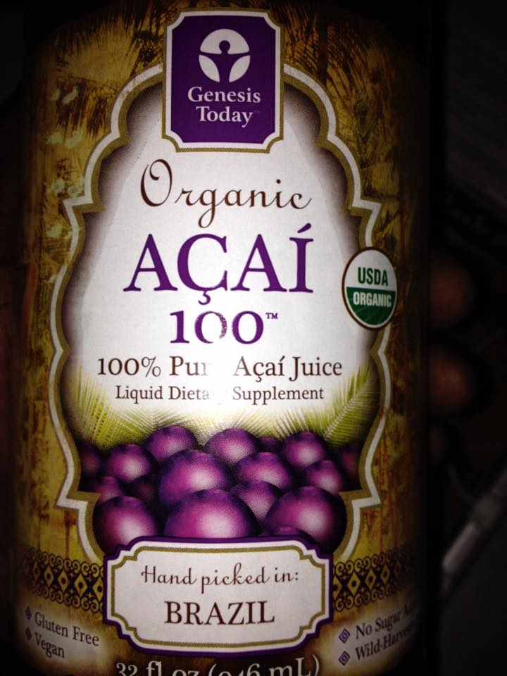 acai juice lable