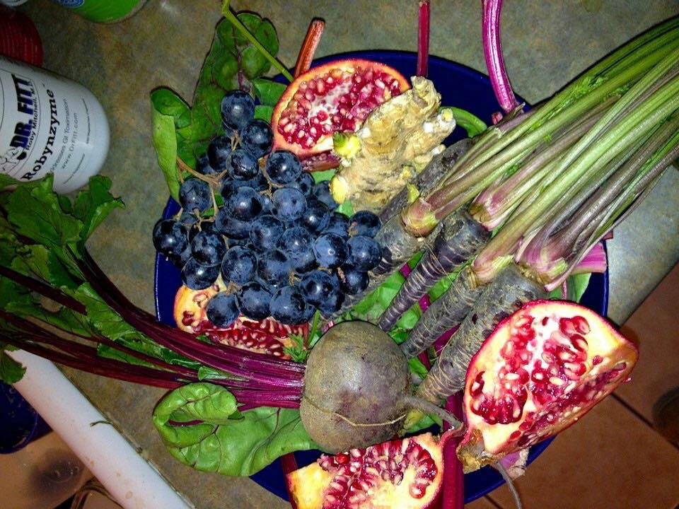 purple foods pom grapes beets